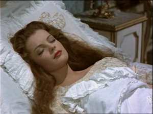 Sissi estava dormindo sobre um travesseiro com seda travesseiro