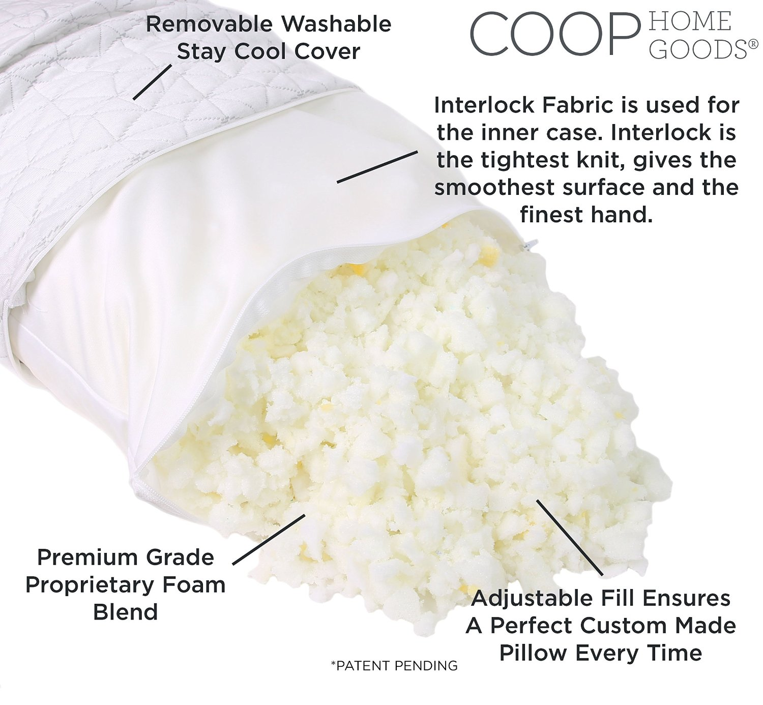 coop home goods pillow Amazing Adjustable Coop Home Goods Bamboo Pillow – Best Pillows  coop home goods pillow