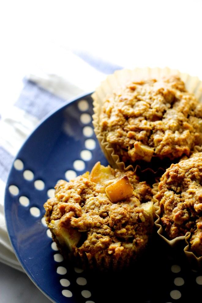 Muffins de manzana y avena