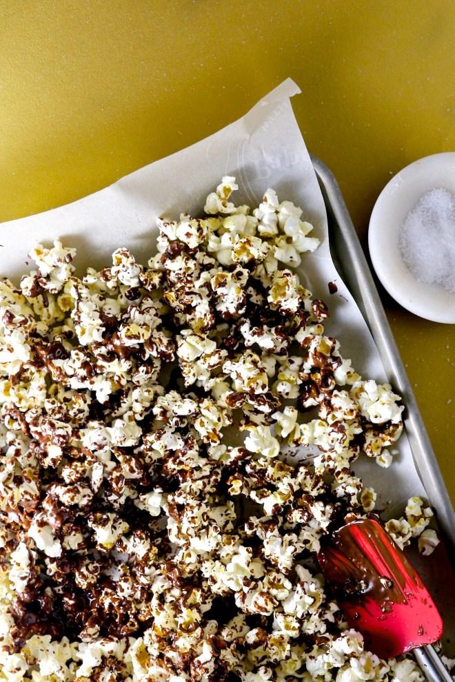 Palomitas con chocolate @piloncilloyvainilla.com