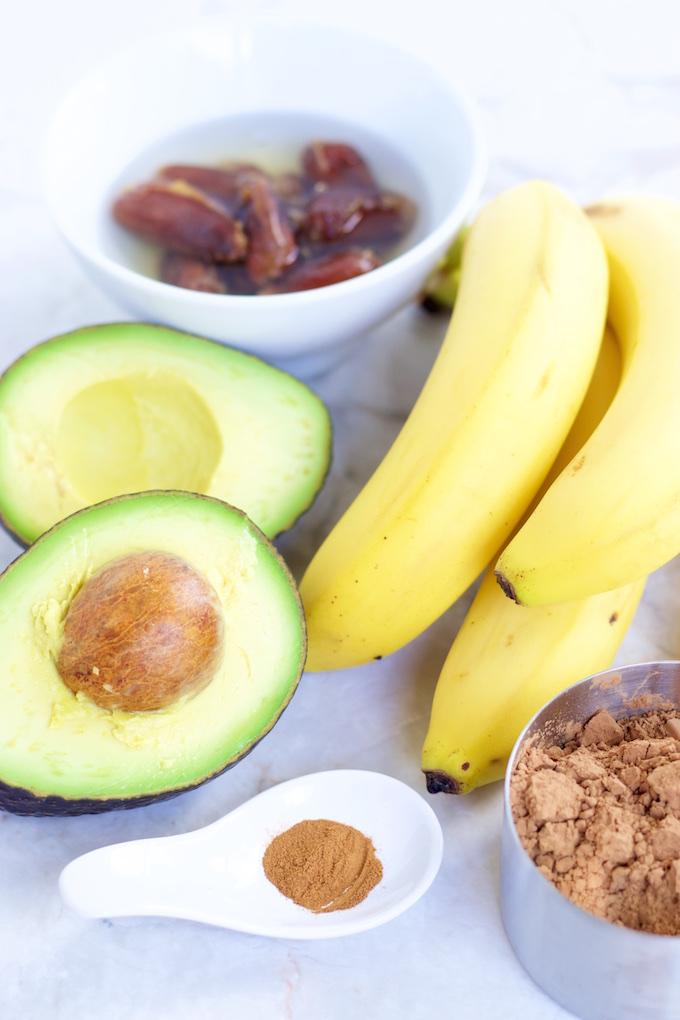 Pudín de chocolate y plátano