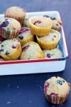 Muffins de berries sin azúcar