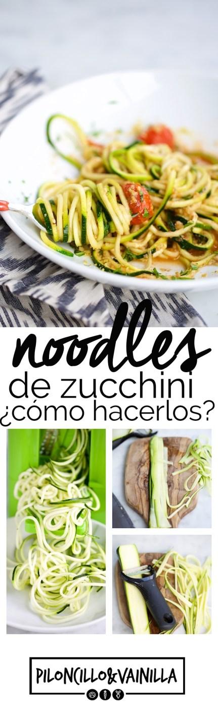 Como hacer noodles de zucchini