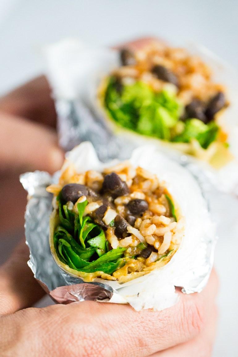 Burritos deliciosos, super nutritivos y bien fáciles de llevar.