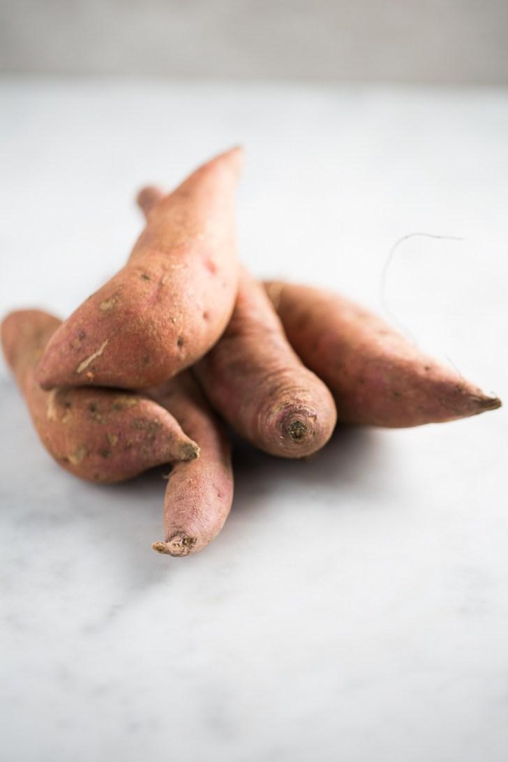 healthy sweet potato ingredients in a pot