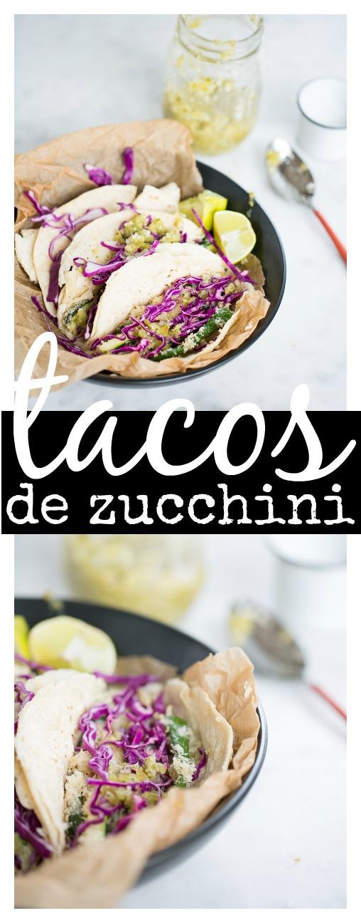 Tacos de calabacita, zucchini, empanizada. Llenos de sabor y cosas buenas para nosotros.