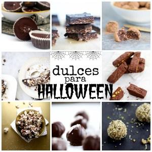 Dulces mas sanos para Halloween. Fáciles de hacer y veganos.