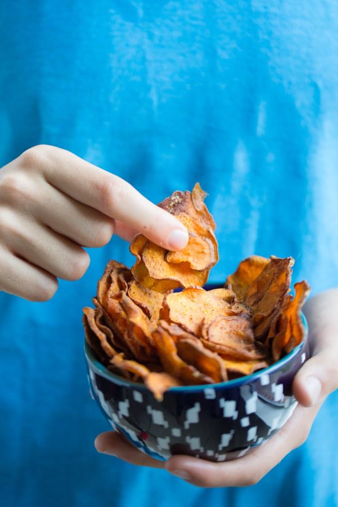 chips saludables de camote