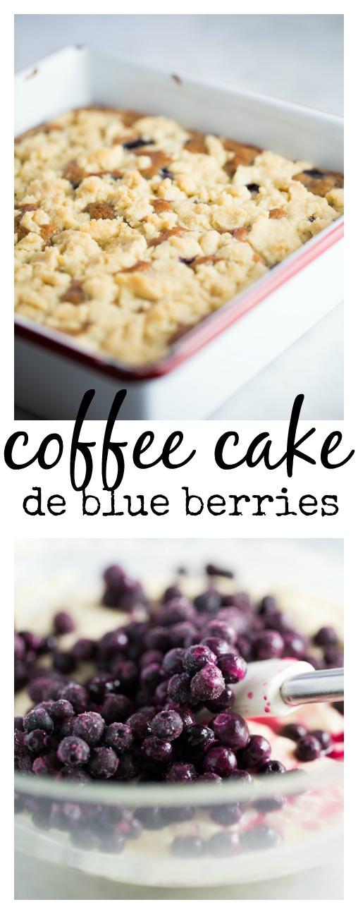 Esta receta de coffee cake de blueberries es super rica y bien fácil de hacer. Es 100%vegan, vegana.