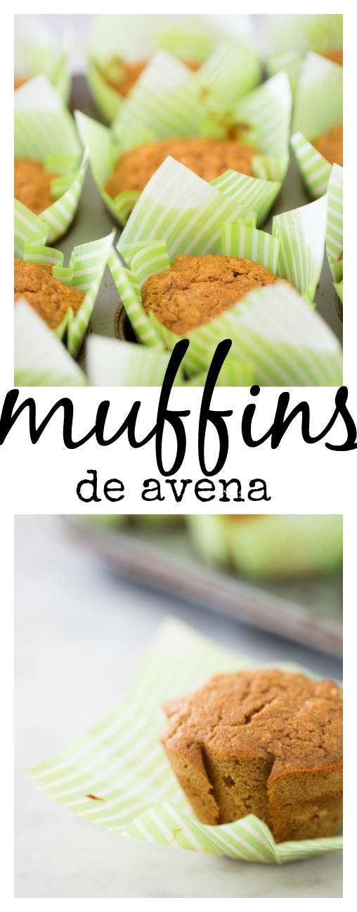 Receta de muffins de avena para desayunar. Perfectos para cuando tienes que salir corriendo de tu casa.