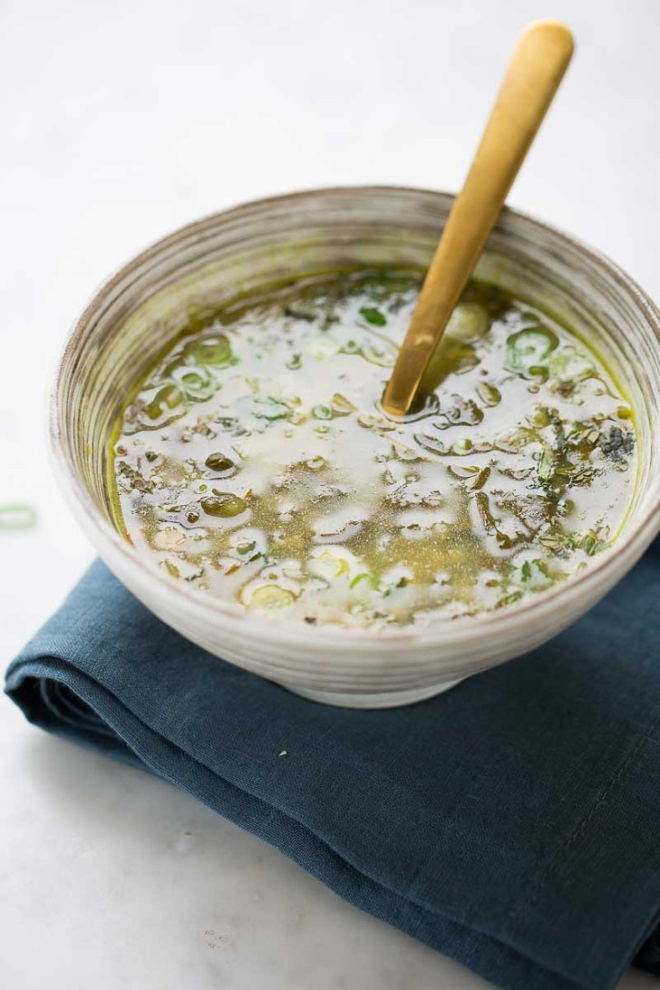 GREEN SPLIT PEA SOUP WITH FRESH HERBS