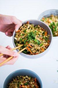 arroz frito de coliflor