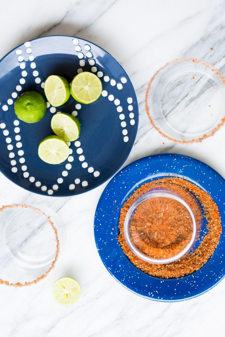 Margaritas de jamaica y fresa sin alcohol
