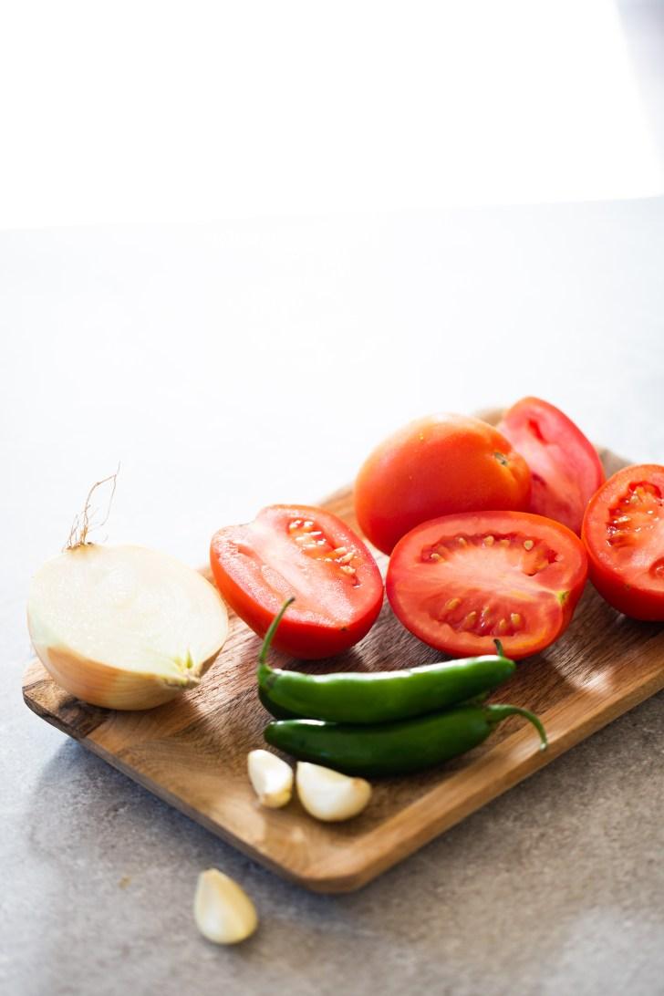ingredientes para hacer salsa mexicana