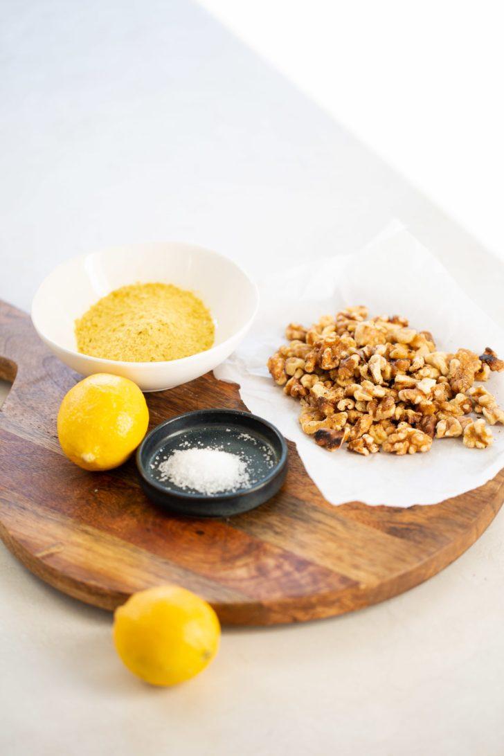 ingredients to make vegan parmesan
