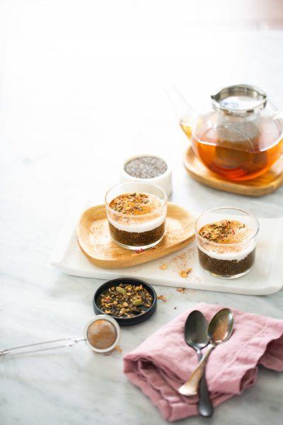 Pudin de chia con té chai