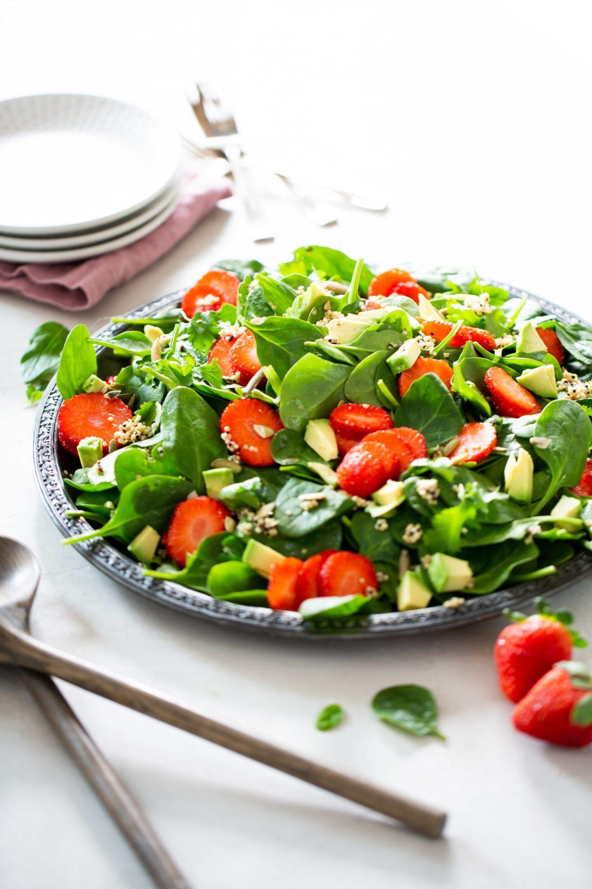 ensalada de espinacas con fresas