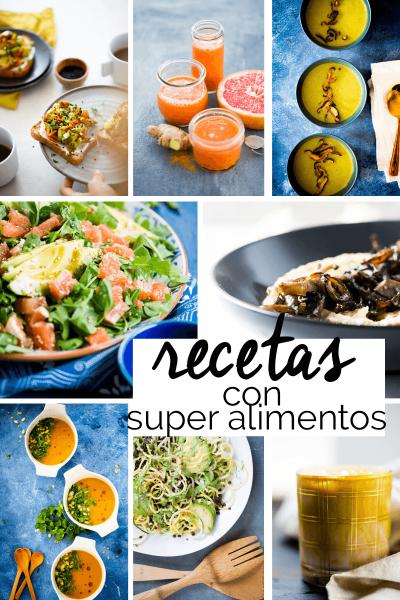 Recetas con super alimentos, recetas basadas en plantas