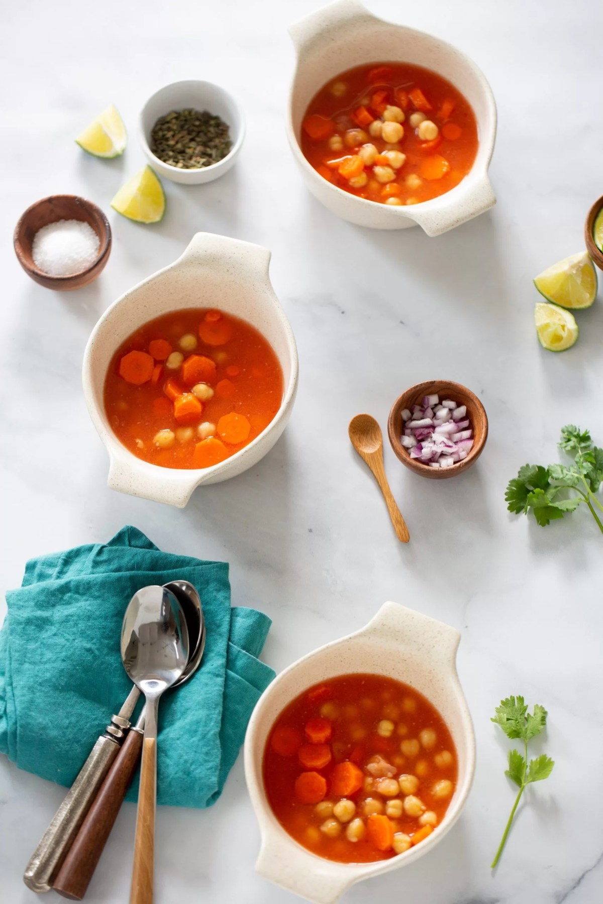 Mexican chickpea soup