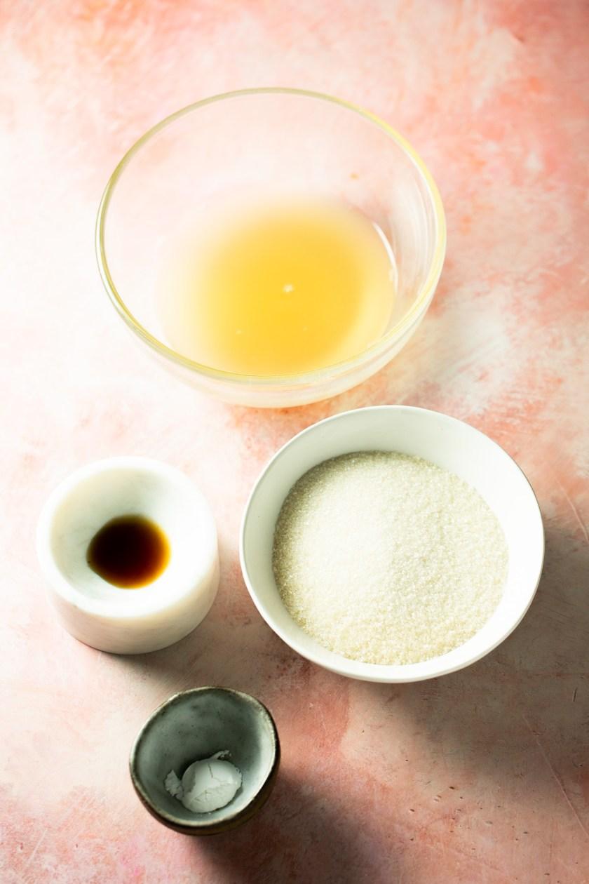 Ingredientes para hacer pavlova sin huevo