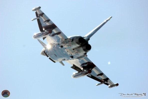 Duitse Eurofigter tijdens het opstijgen