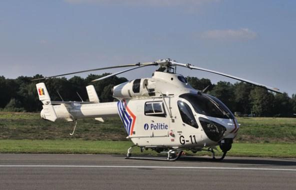 Belgische politie op standby met een MD-900.