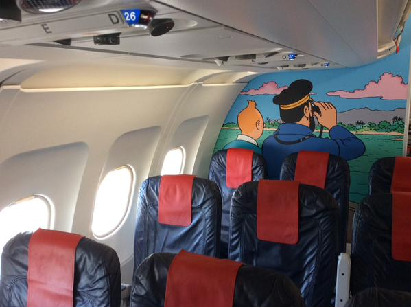 kuifje prijkt op a320 brussels airlines. Black Bedroom Furniture Sets. Home Design Ideas