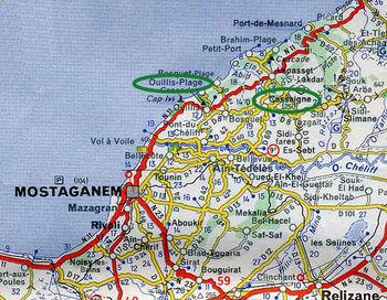 Région de Cassaigen en Algérie