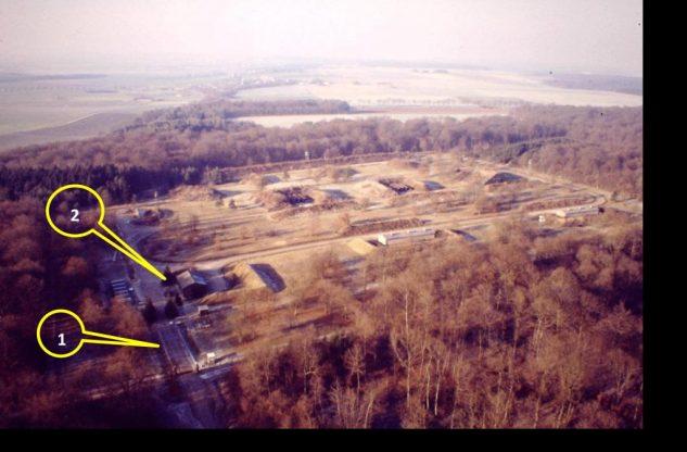 Vue aérienne du DPMU