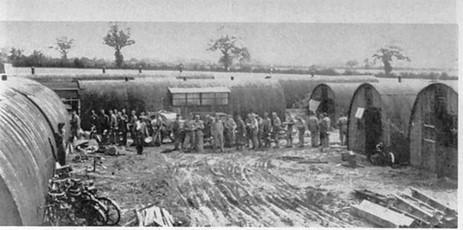 Campement du 850th à Rosières, hiver 1944/1945