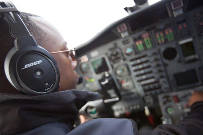 Bose A20 Headset im Flug