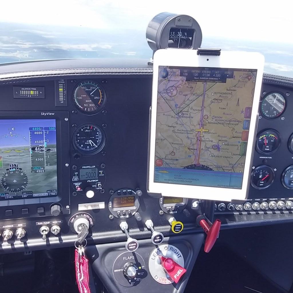 ipad mini cockpit mounted