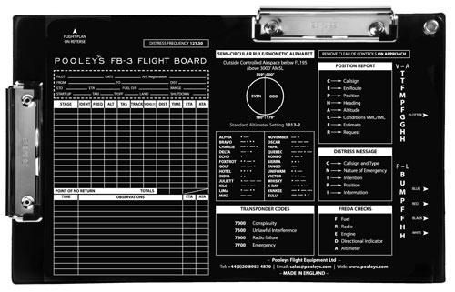 Pooleys Flightboard Fb-3 Klemmbrett