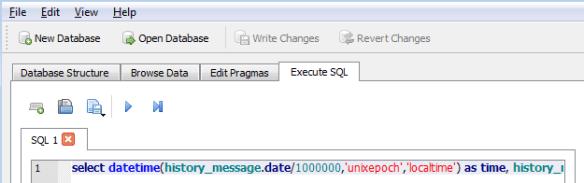 SQLite-ExecuteSQL