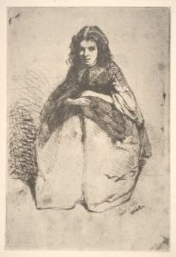 "The etching found by Molly Martien at a thrift store in Williamsburg, called ""Fumette,"" is one of 74 known impressions made of a portrait etched by James Abbott McNeill Whistler in 1859."