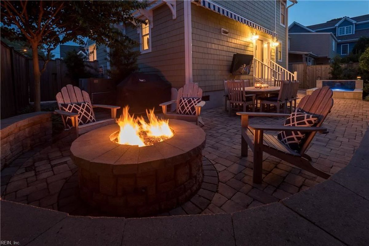 built in fire pits let them glow the
