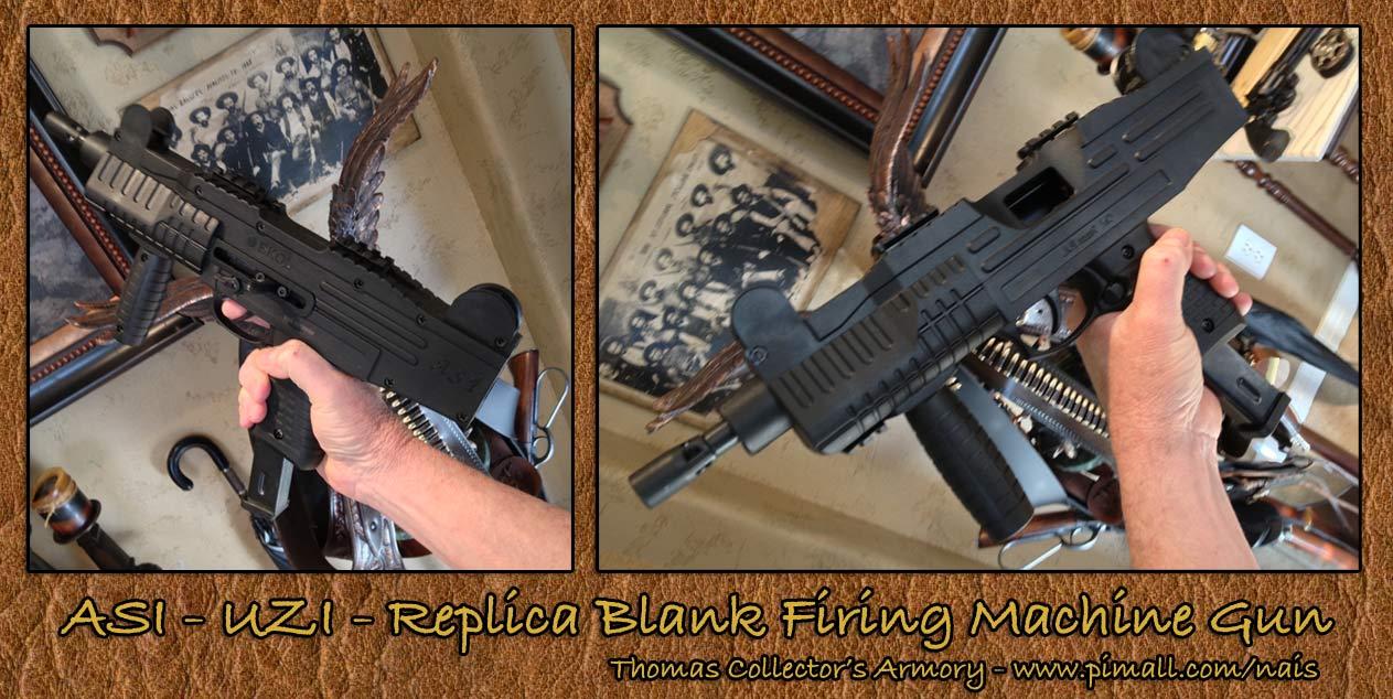 Thomas Collector's Armory - Blank Firing ASI -UZI Replica Machine Gun - www.pimall.com/nais