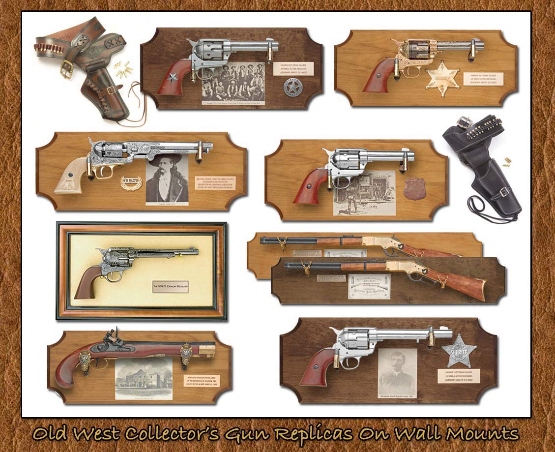 Thomas Collector's Armory- Famous Gun Replicas Of The West Framed  Wall Mountings-www.pimall.com/nais
