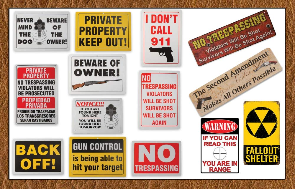 Metal Security Signs From Thomas Collector's Armory- www.pimall.com/nais