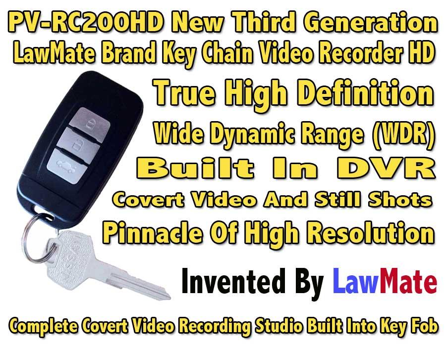Third Generation LawMate Keychain Video Recorder HD