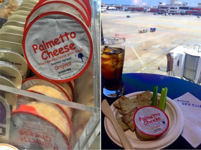 Palmetto Cheese at Delta SkyClub