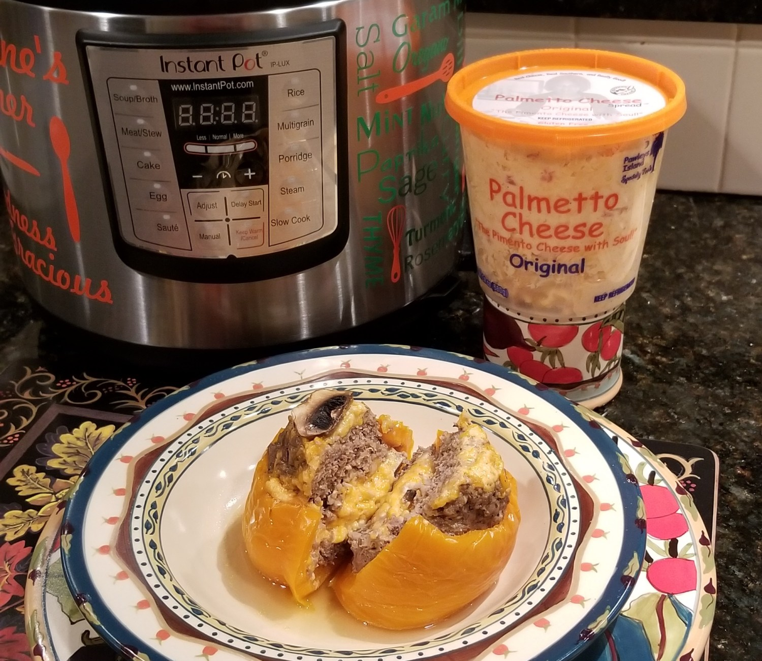 Palmetto Cheese Stuffed Bell Peppers