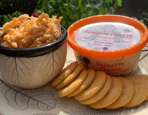 Palmetto Cheese Ritz Crackers pimento cheese