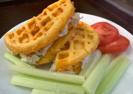 Southern Chaffles (Pimento Cheese Waffles)