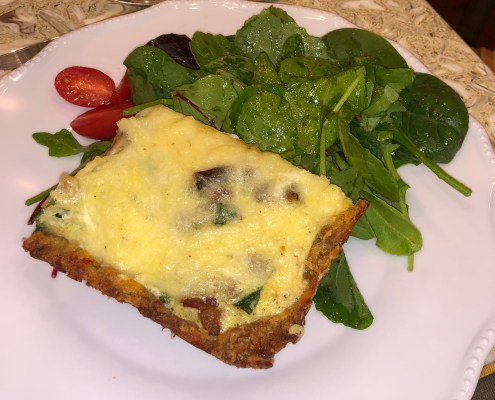 Quiche with PC sausage ball crust