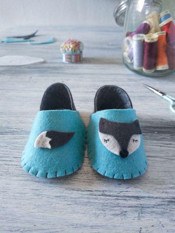 Colección Born to be wild - Zapatillas para bebés de 0-3 meses - Lobo | Pimienta y Purpurina