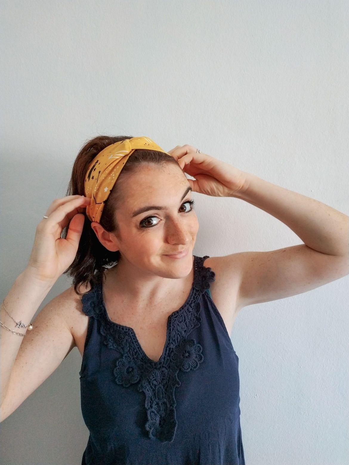 Cómo hacer una diadema cruzada/turbante en 15 minutos | Pimienta y Purpurina