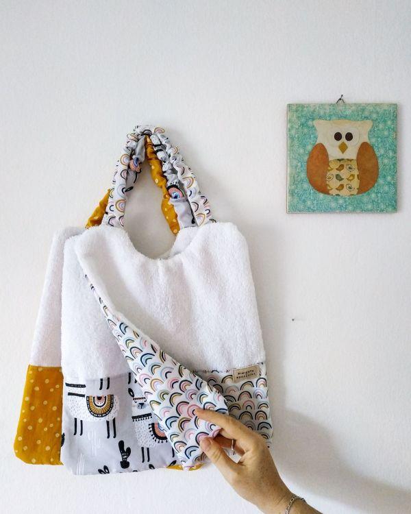 Colección Baby Boho - Babero guardería | Pimienta y Purpurina