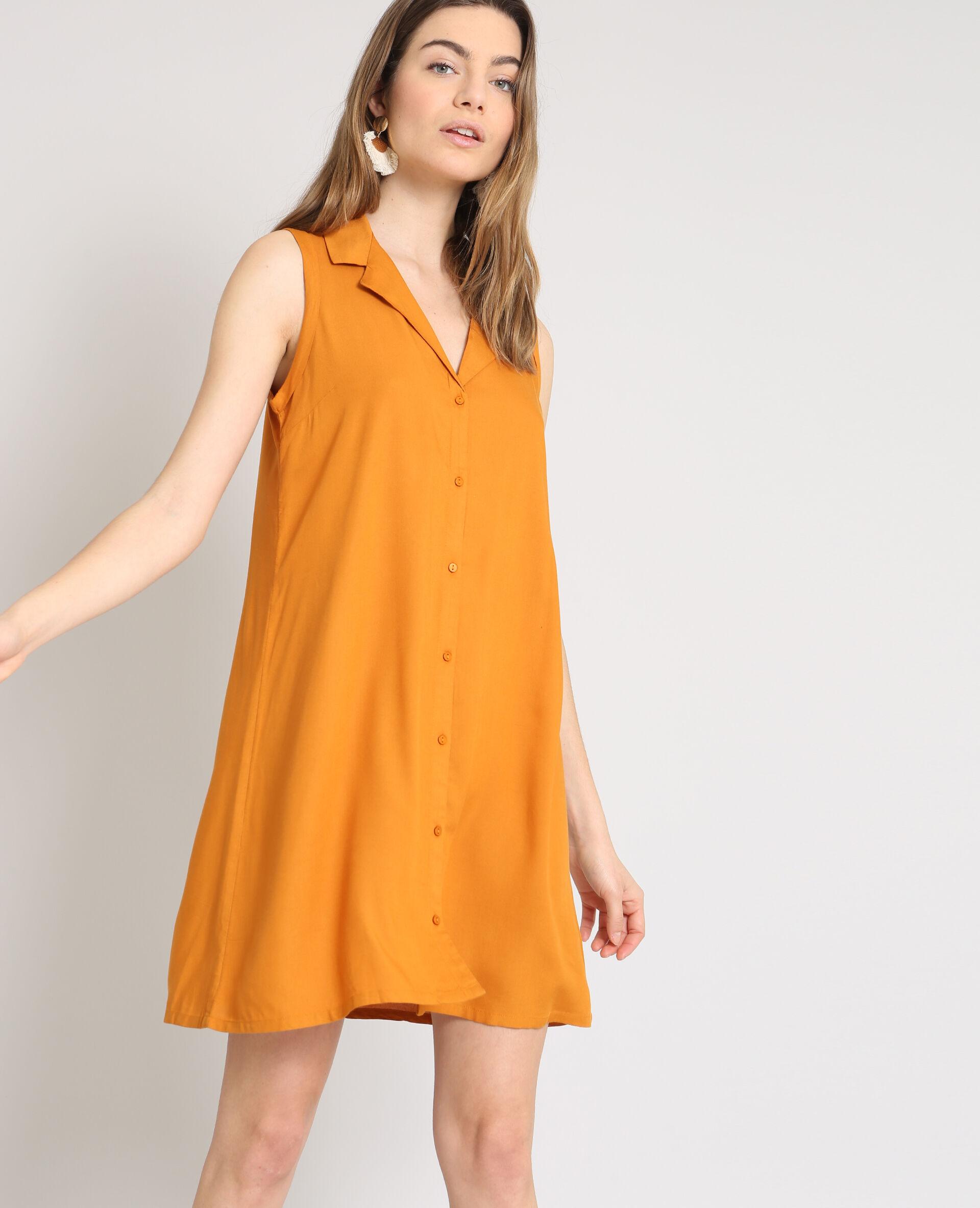 Robe chemise camel