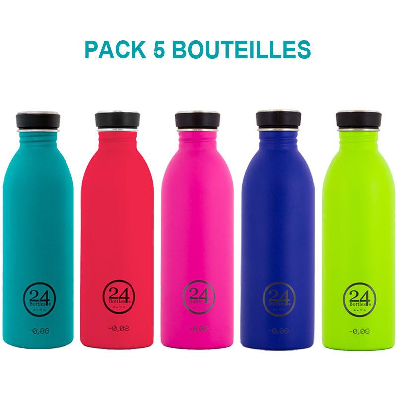 pack entreprise de 5 bouteilles inox urban bottle chromatic